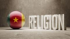 Stock Illustration of Cameroon. Religion Concept.