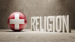Switzerland. Religion Concept. - stock illustration