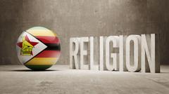 Stock Illustration of Zimbabwe. Religion Concept.