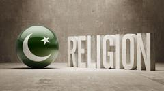 Stock Illustration of Pakistan. Religion Concept.