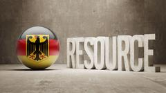 Germany. Resource Concept. - stock illustration