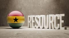 Ghana. Resource Concept. - stock illustration