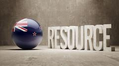 New Zealand. Resource Concept. Stock Illustration