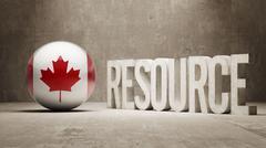 Canada. Resource Concept. - stock illustration