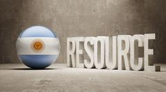 Argentina. Resource Concept. Stock Illustration