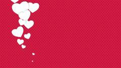 Romantic Valentines Background Stock Footage