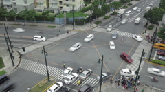 Philippines Manila city junction time lapse 4k - stock footage
