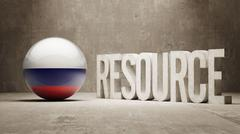 Russia. Resource Concept. Stock Illustration