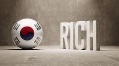 South Korea. Rich Concept. - stock illustration