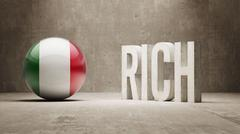 Stock Illustration of Rich Concept.