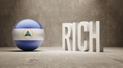 Nicaragua. Rich Concept. - stock illustration