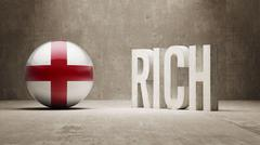 England. Rich Concept. Stock Illustration