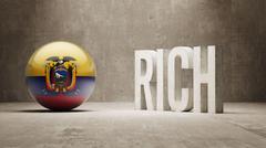 Stock Illustration of Ecuador. Rich Concept.