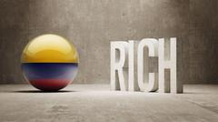 Colombia. Rich Concept. - stock illustration