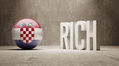 Croatia. Rich Concept. - stock illustration