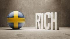 Stock Illustration of Sweden. Rich Concept.