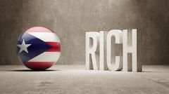 Puerto Rico. Rich Concept. - stock illustration