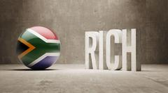 South Africa. Rich Concept. Stock Illustration
