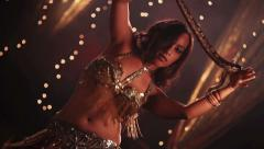 sexy belly dancer with snake - stock footage