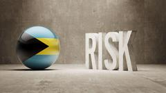 Bahamas. Risk Concept. Stock Illustration