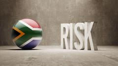 South Africa. Risk Concept. - stock illustration