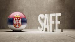 Stock Illustration of Serbia. Safe Concept.