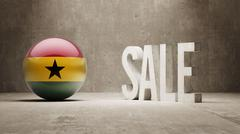 Stock Illustration of Ghana. Sale Concept.