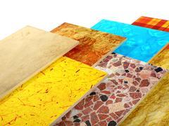 Samples of ceramic tiles Stock Photos