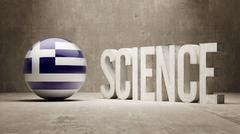Stock Illustration of Greece. Science Concept.
