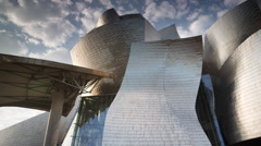 guggenheim museuem art gallery bilbao spain basque - stock footage