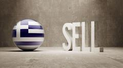 Greece. Sell Concept. - stock illustration