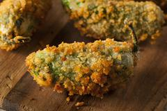 Homemade Breaded Jalapeno Poppers - stock photo