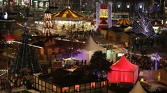 HD video of Christmas Market at night. - stock footage