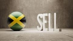 Jamaica. Sell Concept. - stock illustration