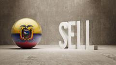 Ecuador. Sell Concept. Stock Illustration