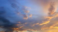 Sky clouds twilight Stock Footage