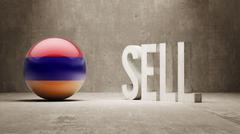 Armenia. Sell Concept. Stock Illustration