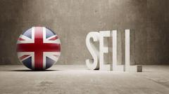United Kingdom. Sell Concept. - stock illustration