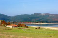 Stock Photo of Ullibarri Ganboa reservoir in Nanclares de Gamboa