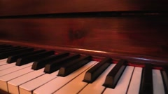 Dolly shoot Grand piano keyboard Stock Footage