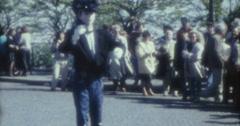 Paris 70s 80s Montmartre Street Artist Pantomime 16mm Stock Footage