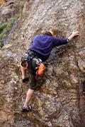 Stock Photo of Safe climber.