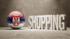 Serbia. Shopping Concept. - stock illustration