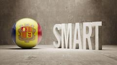 Andorra. High Resolution Smart Concept. - stock illustration