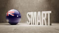 Australia. High Resolution Smart Concept. Stock Illustration