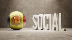Andorra. Social Concept. Stock Illustration