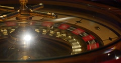 Close up shot of a casino roulette in motion a new game is being started Stock Footage