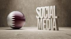 Qatar. Social Media. - stock illustration