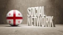 Stock Illustration of Georgia Social Network.