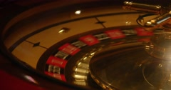 Close up shot of a casino roulette in motion-a new game is starting Stock Footage